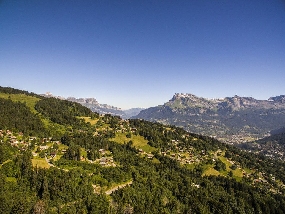 Vol en face du Mont-Blanc, Saint-Gervais