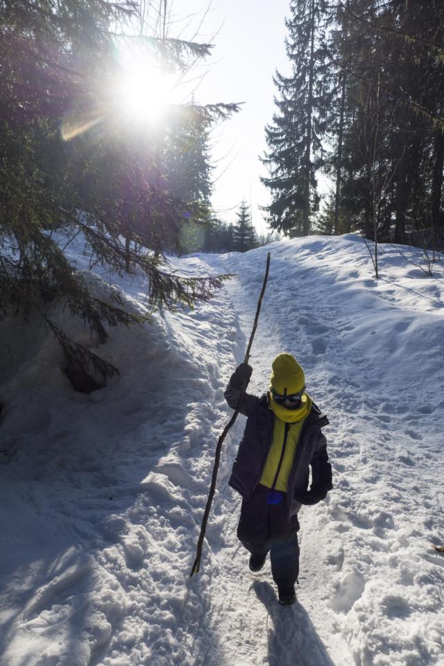 Enfants aux vacances d'hiver