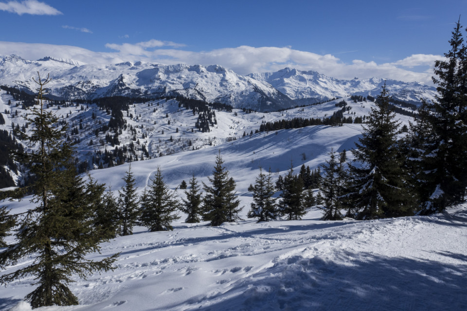 Vue sur le Mont-Blanc depuis Les Saisies