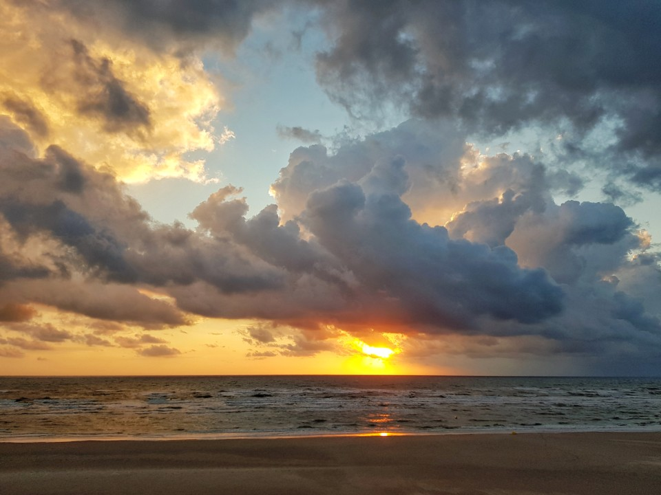 Coucher de soleil Merlimont plage