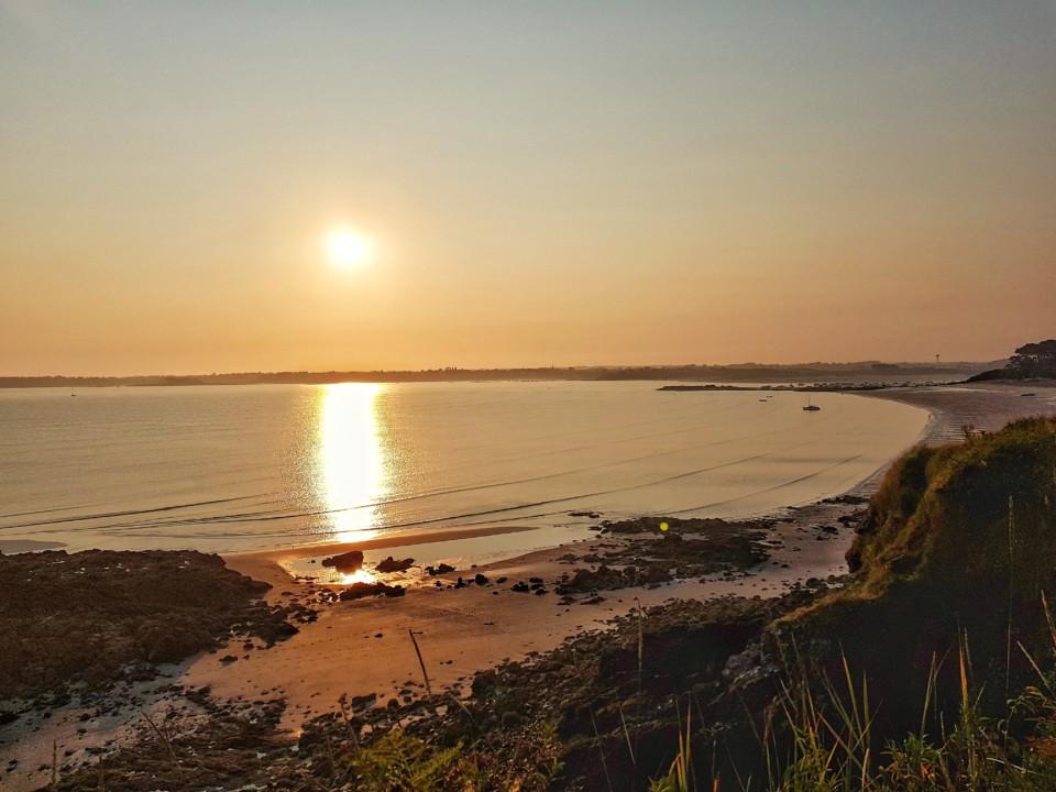 Soleil levant Saint-jacut Bretagne
